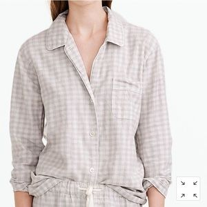 J. Crew Pajama Top in Heathered Gingham Flannel